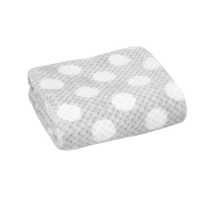 Little Legend Grey Dot Waffle Blanket