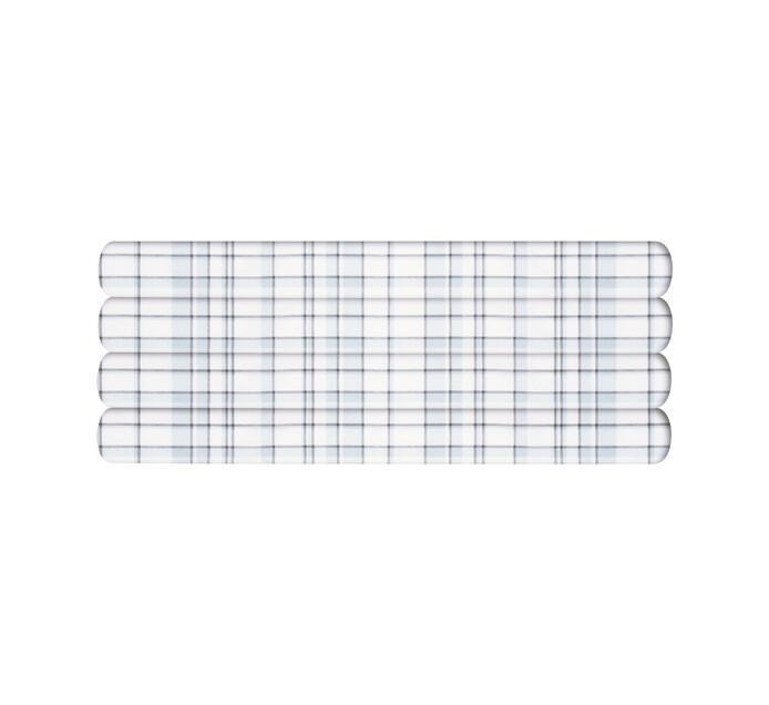 Primaries Queen Fitted Sheet tartan grey