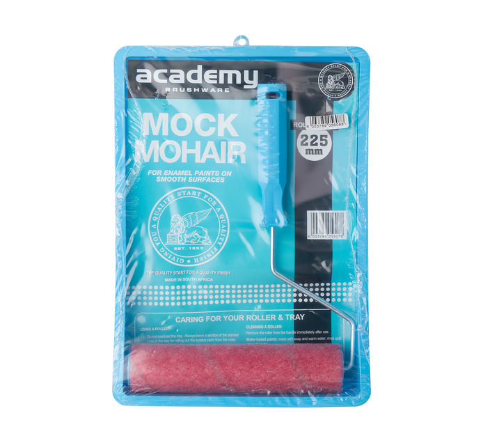 Academy 225 mm Mock Mohair Roller Tray Set