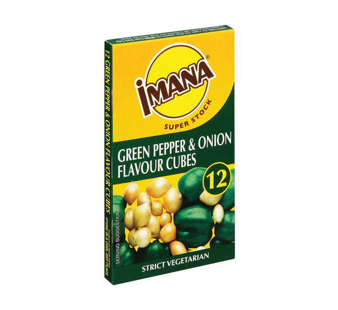 Imana Stock Cubes Green Pepper and Onion (1 x 12's)