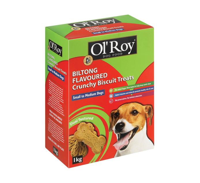 Ol'roy Dog Biscuits Biltong Small Medium (1 x 1kg)