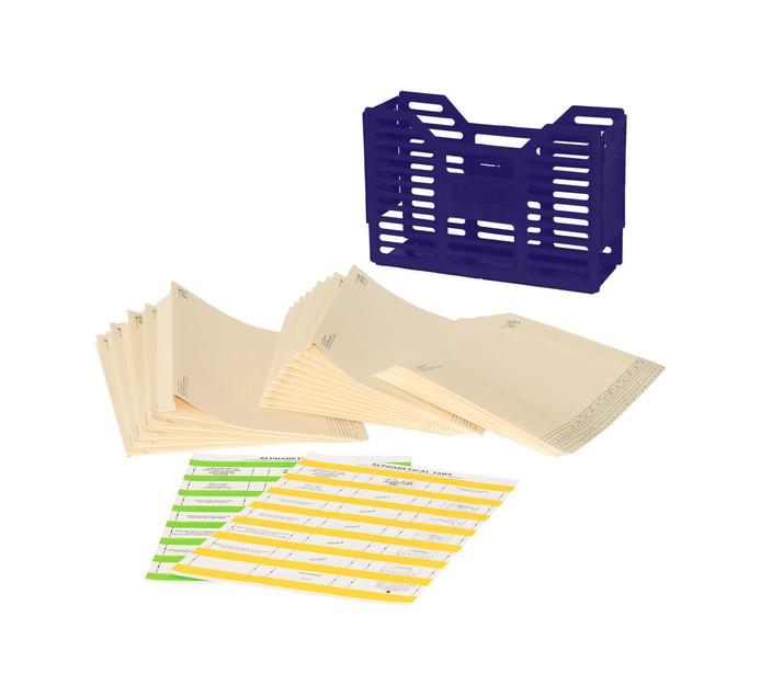 Tidy Files Filing Starter Pack Blue