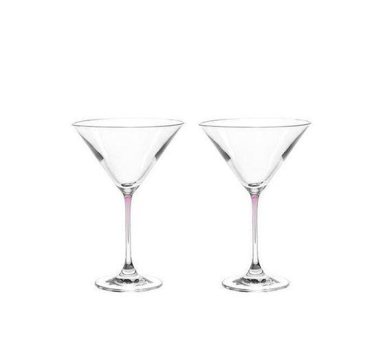 Leonardo Cocktail Glass with Purple Stem LA Perla Set of 2