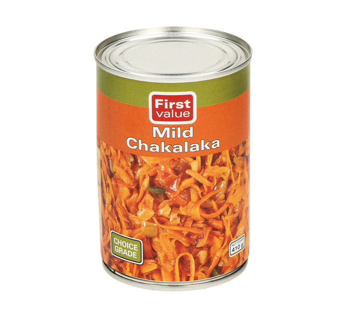 First Value Chakalaka Mild (12  x 410g)