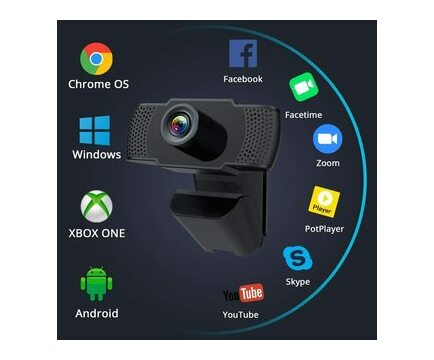Ntech HD 1080P Clip on Webcam