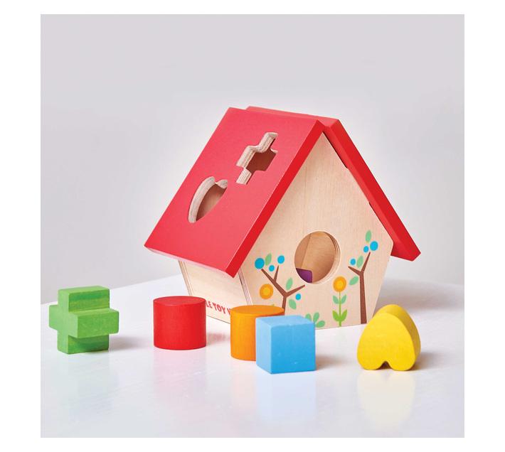 Le Toy Van Petilou: My Little Bird House Shape Sorter