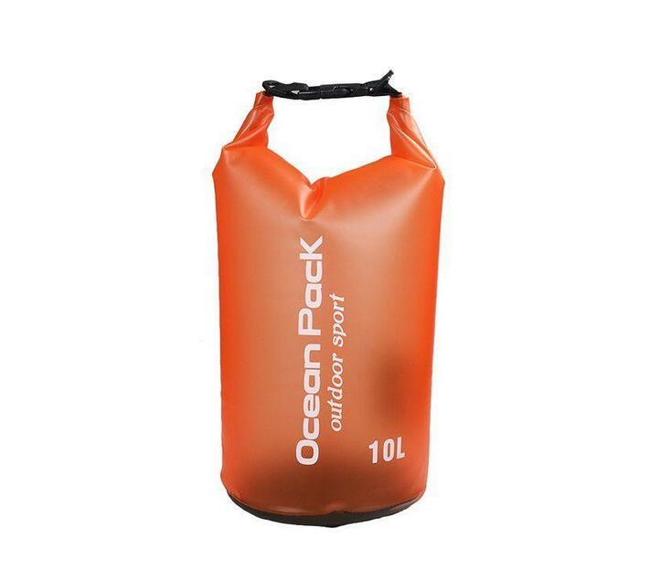 Ocean Pack 10L Dry Bag with Shoulder Strap (Orange)