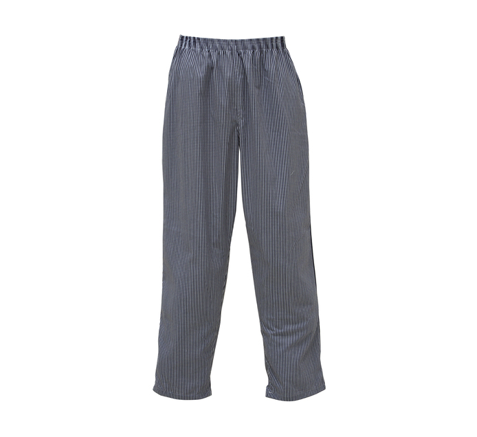 Bakers & Chefs Large Checked Chef Pants Blue/white