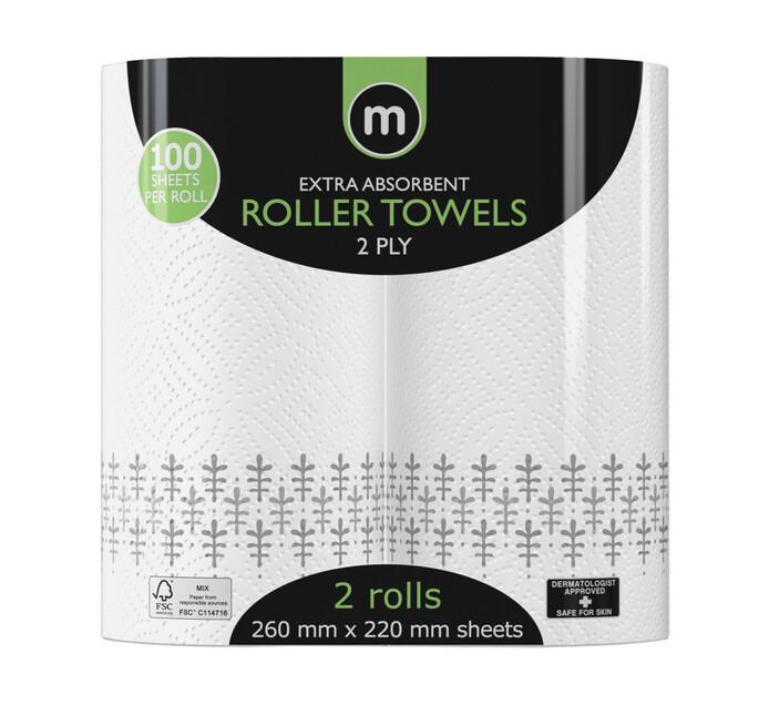 M Brand Roller Towels Jumbo Printed (1 x 2's)