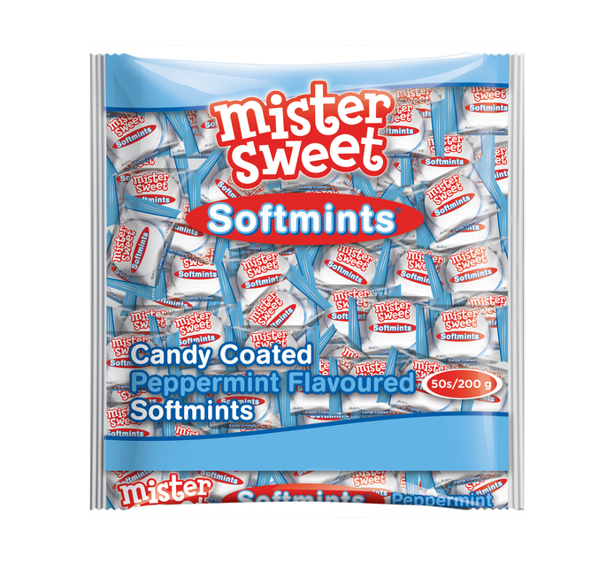 Mister Sweet Candy Coated Mints Peppermint (1 x 50's)