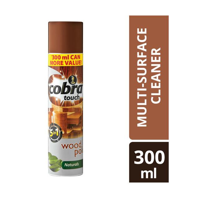 COBRA TOUCH WOOD POLISH 300ML,NATURALS