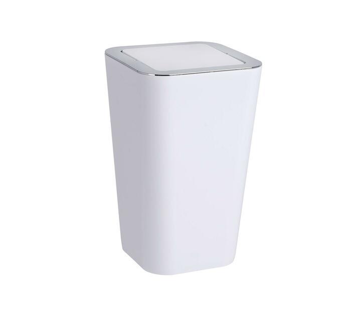 WENKO Swing Cover Bin - Candy Range - White - 6L
