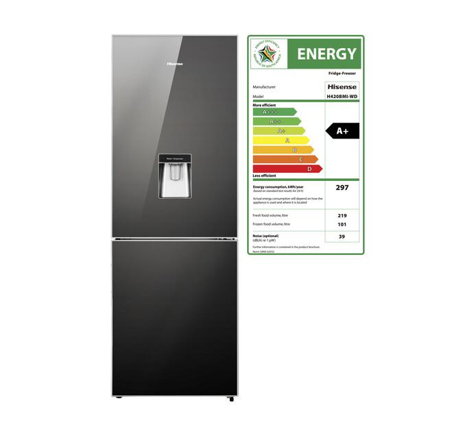 HISENSE 320 l Combi Fridge Freezer with Water Dispenser