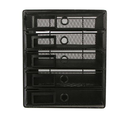 ARO 5 Drawer Storage Cabinet Black Each