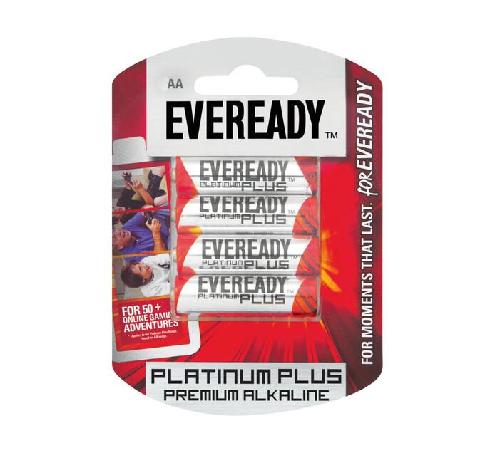 Eveready Platinum Plus AA Batteries 4-Pack