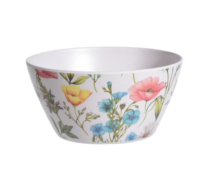 Excellent Houseware 14.5 cm Flowers Melamine Bowl