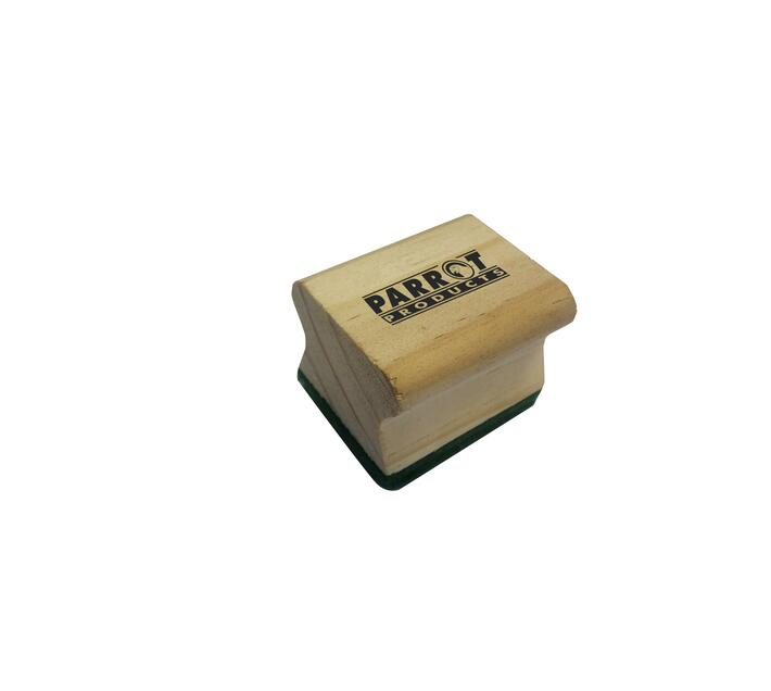 PARROT PRODUCTS Wood Chalk Board Duster (50x35mm, Green, Pack of 10)