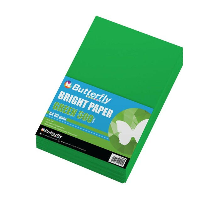 Butterfly A4 Paper Ream Bright Green 500 Sheets