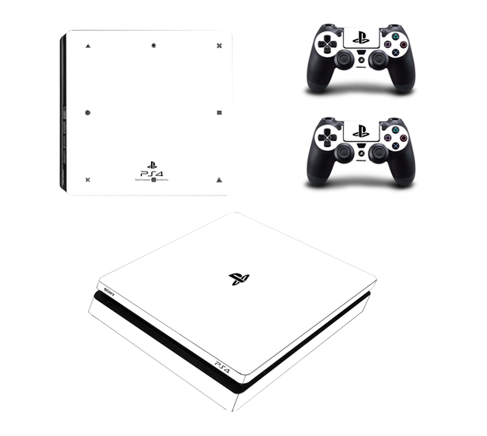 SKIN-NIT Decal Skin For PS4 Slim: White