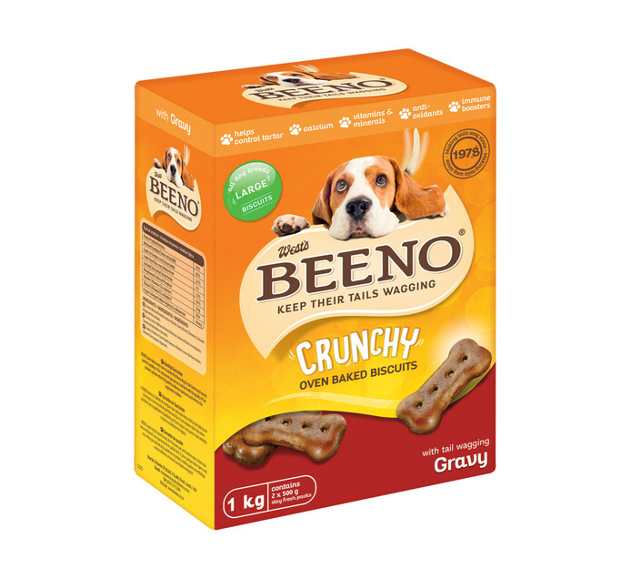 Beeno Dog Biscuits Large Gravy Large (1 x 1kg)