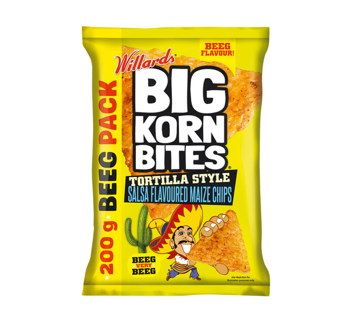 WILLARDS Big Korn Bites Tortilla Salsa (1 x 200g)