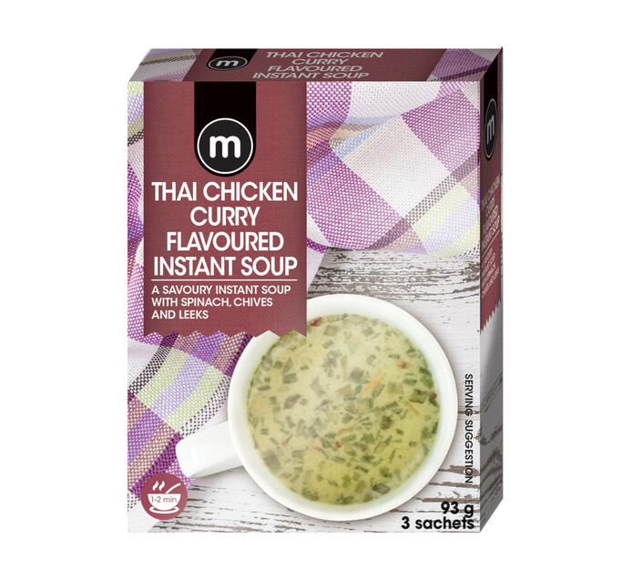 M Instant Soup Creamy Thai Chicken Curry (3's)