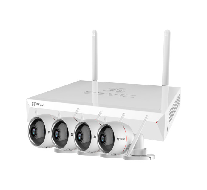 Ezviz Smart 8-Channel 4-Camera NVR CCTV Kit