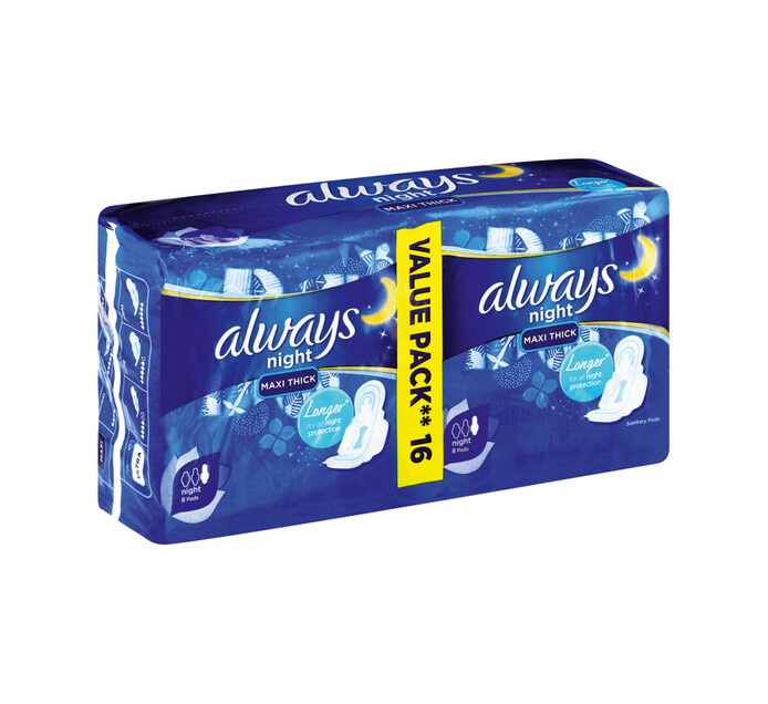 Always Maxi Duo Sanitary Pads Night (1 x 16's)
