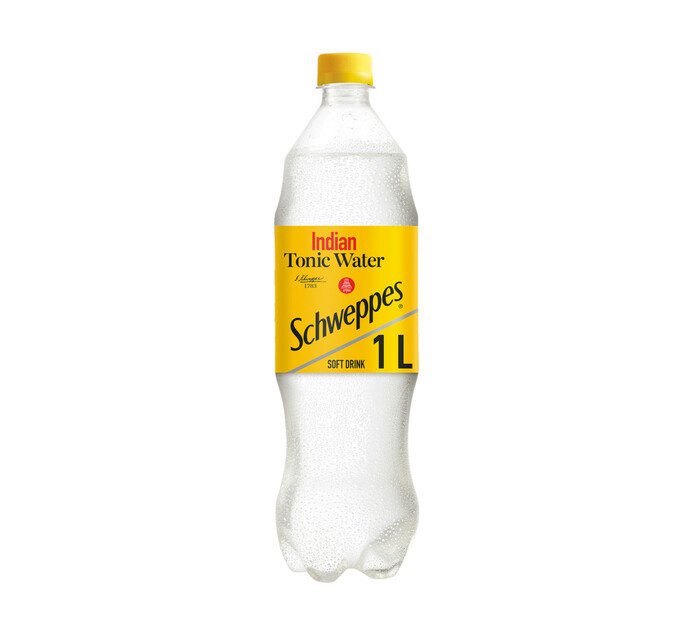 Schweppes Scweppes Tonic Water Soft Drink (1 x 1l)