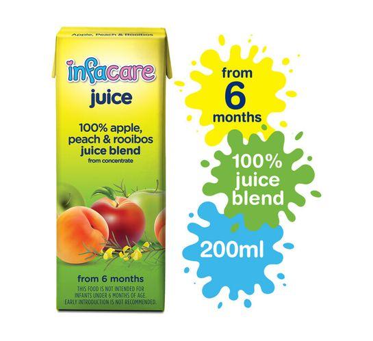 Infacare Fruit Juice Peach & Rooibos (6 x 200ml)