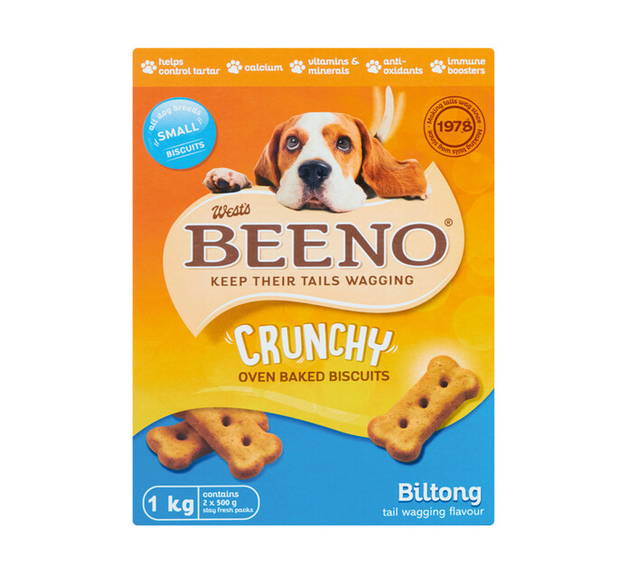 Beeno Dog Biscuits Biltong Small (1 x 1kg)