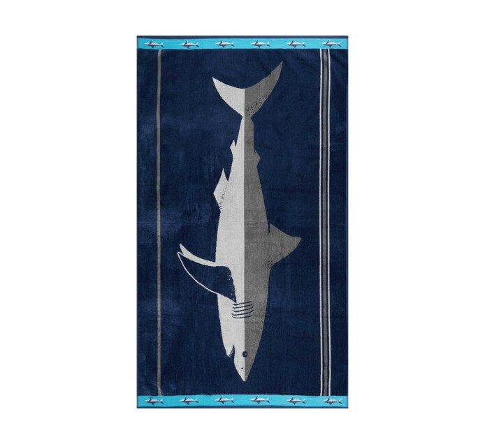 Primaries 90 x 150 cm Velour Beach Towel Great White
