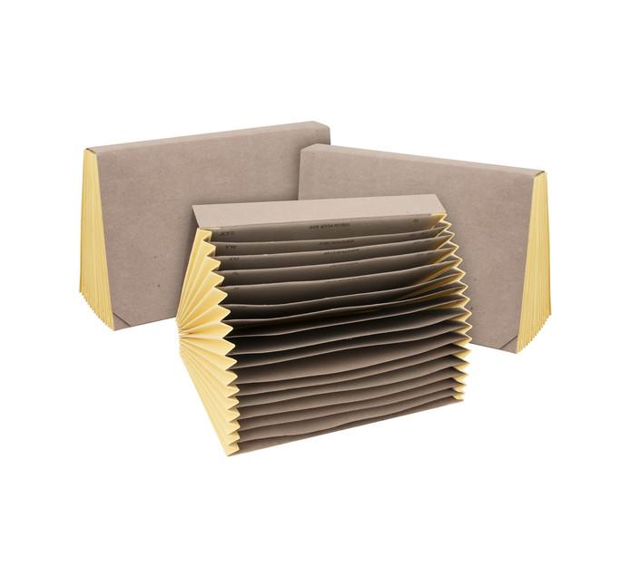 Files A4 Concertina File Kraft 3 Pack