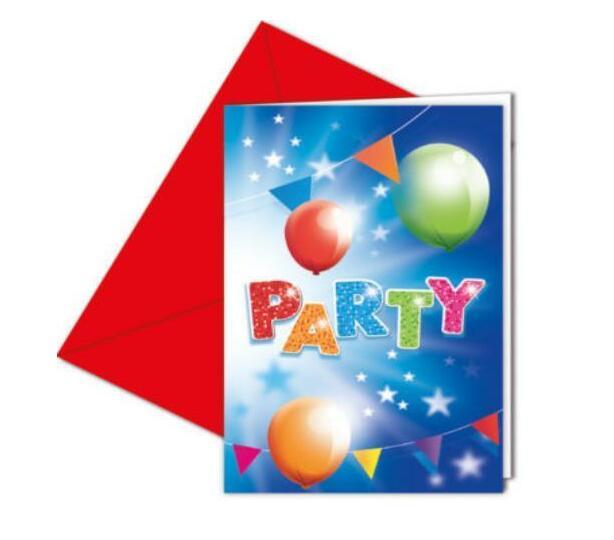 FABULOUS PARTY INVITATIONS & ENVELOPES 6CT