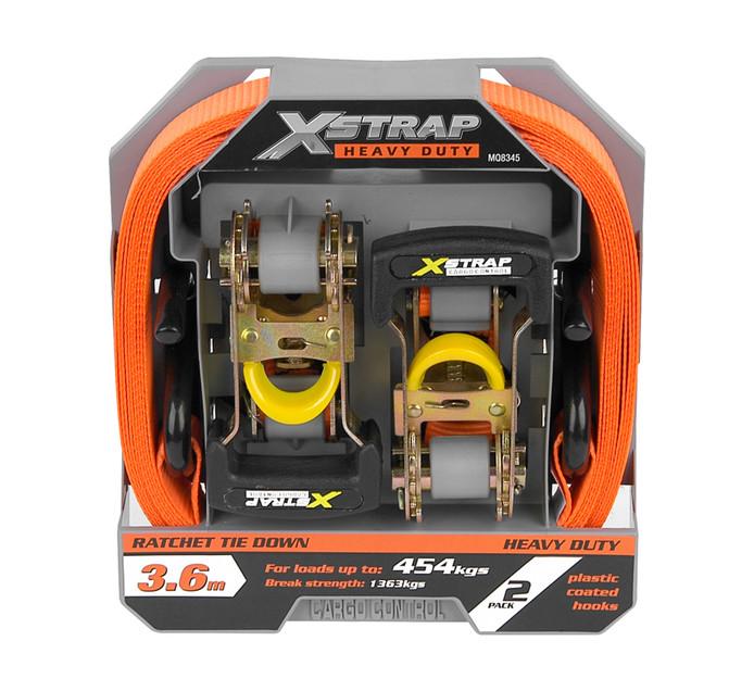X STRAP H/D RATCHET TIE DOWN 2PC
