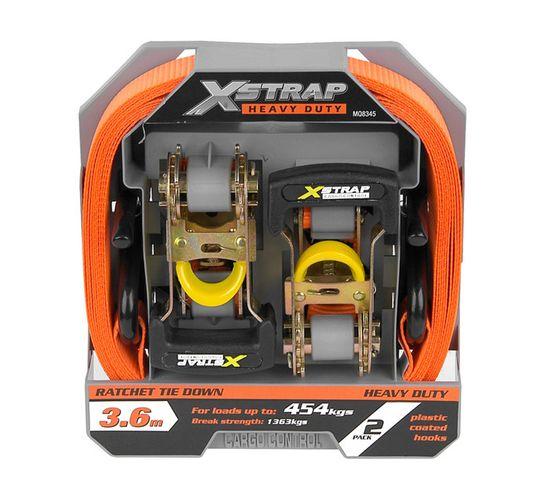 X-strap 3.6 m Heavy-Duty Ratchet Tie Downs 2-Pack