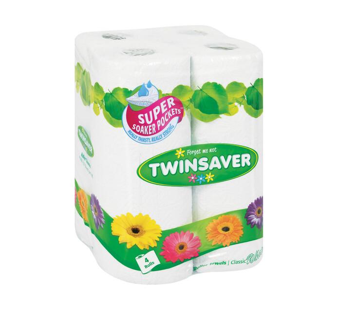 Twinsaver Kitchen Towels White (4's)