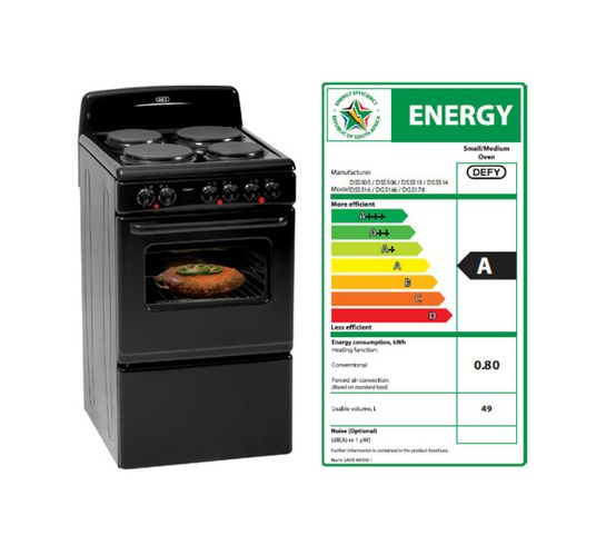 Defy 500 mm Compact 4-Plate Stove