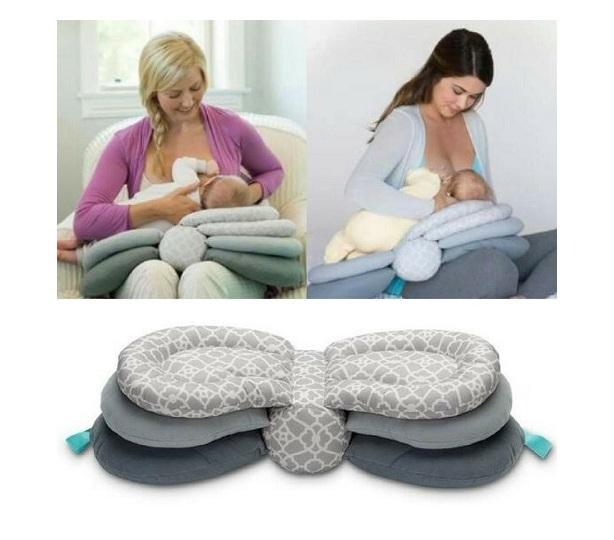 Totland Multifunctional Adjustable Height Nursing Pillow Nursing Pillow - Grey