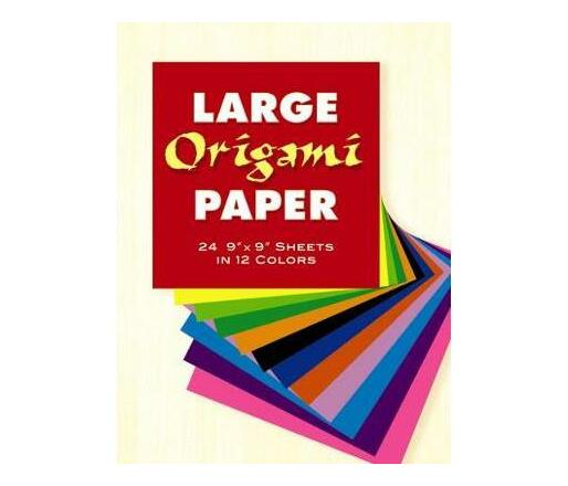 """Large Origami Paper : 24 9"""" x 9"""" Sheets in 12 Colours"""