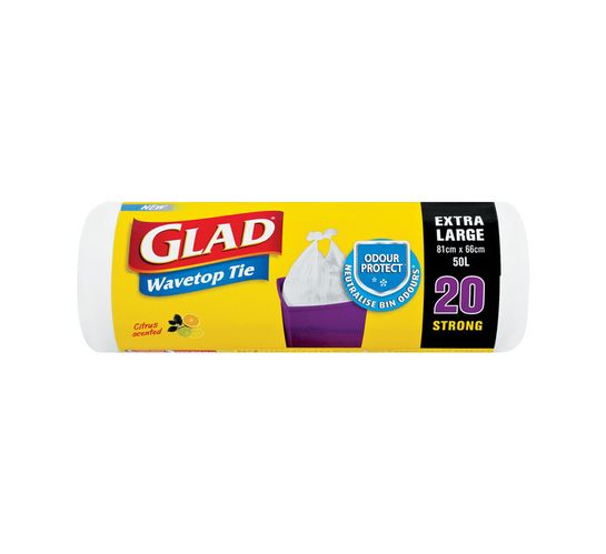 Glad Indoor Wave Top Resfuse Bags Extra Large (1 x 20's)