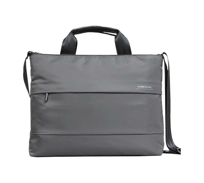 Kingsons Charlotte Series 15.4` (39.1cm) Ladies Laptop Bag in Grey with Dedicated Laptop Compartment for Added Protection