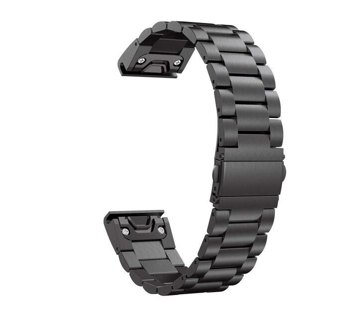 Stainless Steel Link Band for Samsung Gear Fit2 Pro/ Fit2 - Black