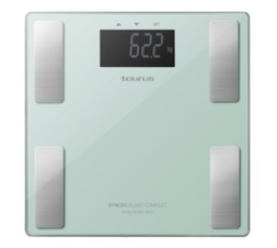 TAURUS BATHROOM SCALE BATTERY OPERATED GLASS TEAL 180KG 3V SYNCRO GLASS COMPLETE