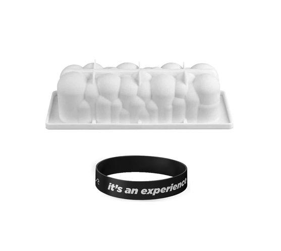 Killerdeals 3D Rectangular Cloud Silicone Baking Mould – White + Wristband