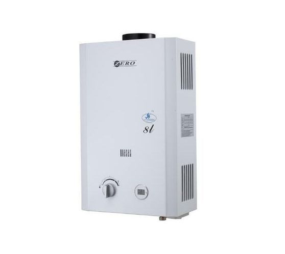 ZERO APPLIANCES 8 L GAS WATER HEATER INCLUDING FLU PIPE