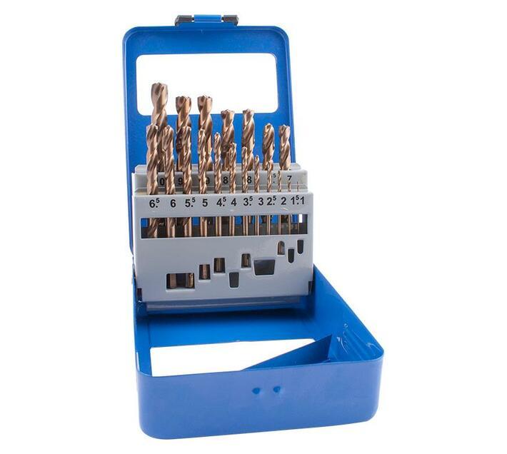Drill Bit Set 19pcs 1-10mm X 0.5mm Turbo Point