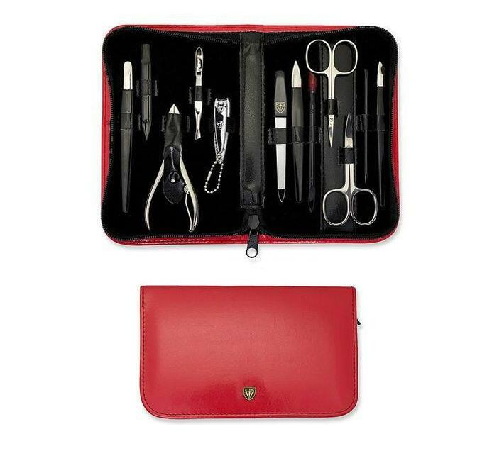 Kellermann 3 Swords Manicure Set Red 5204 PN CUT
