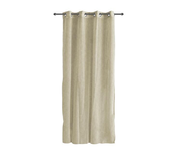easyhome Lino Beige curtain 140 x 260cm