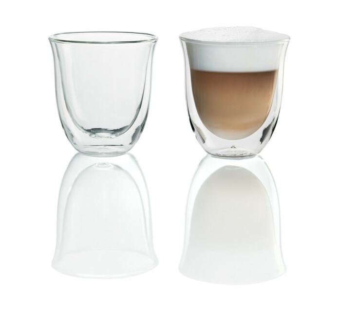 Delonghi 2-Piece Cappuccino Glass Set